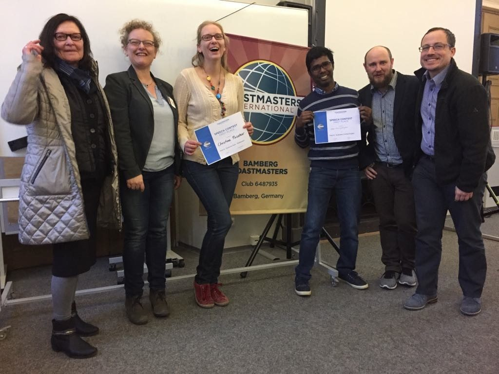Bamberg Toastmasters Triumphs at Area Contest